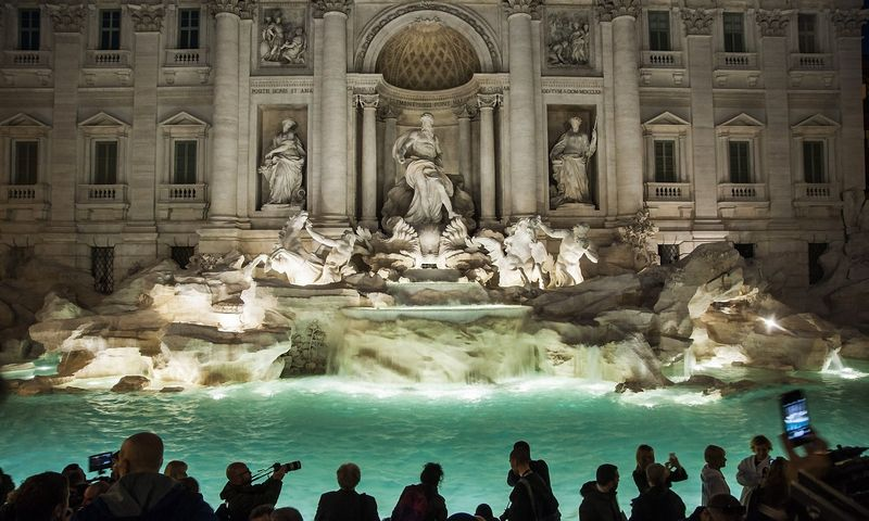 Restauruotas Trevi fontanas. Alessandro Serrano (SIPA/Scanpix) nuotr.
