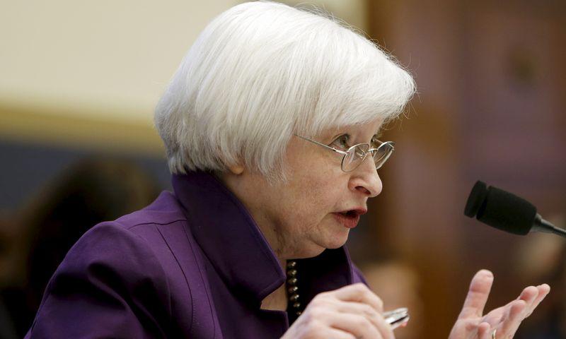 "Janet Yellen, FED vadovė.  Gary Camerono (""Reuters"") nuotr."