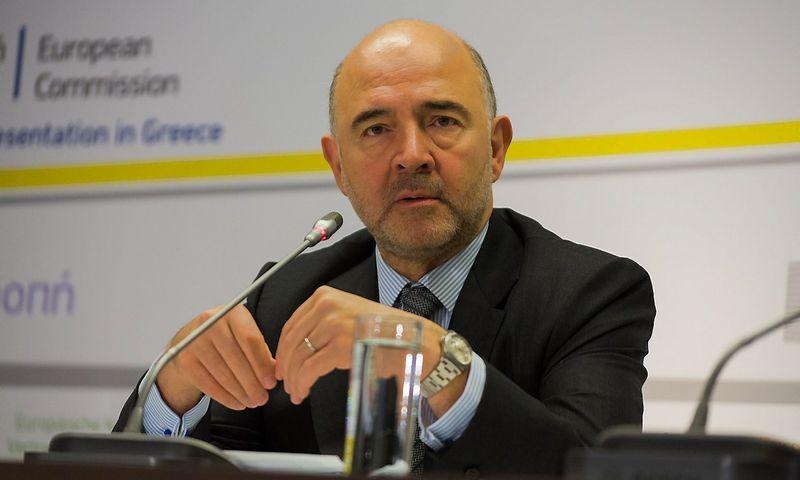 """Pierre Moscovici, Europos Komisijos komisaras ekonomikos ir finansų klausimais. Gaelio Michaudo (""""Sipa"""" / """"Scanpix"""") nuotr."""