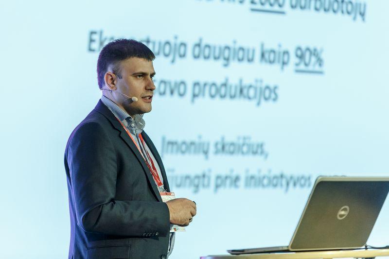 """Tomas Jaskelevičius, UAB """"Progresyvūs verslo sprendimai"""" direktorius: """"Savo ateitį matome taip – nebūsime tie, kurie patys atidarys naujų gamyklų, bet padėsime jas atidaryti investuotojams, prisidėsime finansiškai."""" Vladimiro Ivanovo (VŽ) nuotr."""