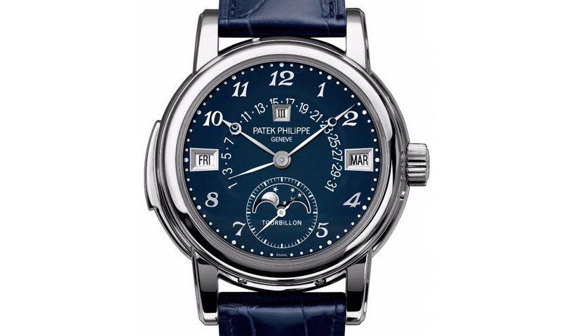 """""""Patek Philippe"""" vienetinis rankinis laikrodis parduotas už 7,26 mln. USD. monochrome-watches.com nuotr."""