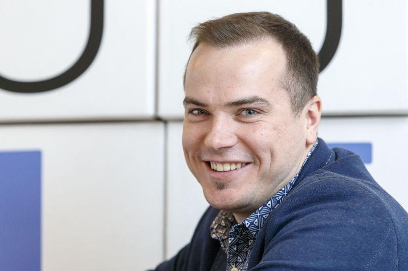 "Jonas Gilys, portalo ""Delfi"" pardavimų vadovas. Vladimiro Ivanovo (VŽ) nuotr."