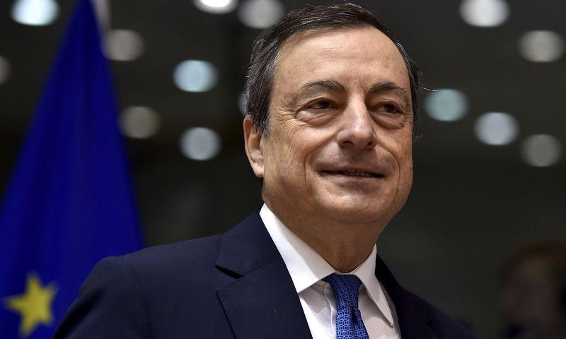 """Mario Draghi, ECB prezidentas. Erico Vidalo (""""Reuters"""") nuotr."""