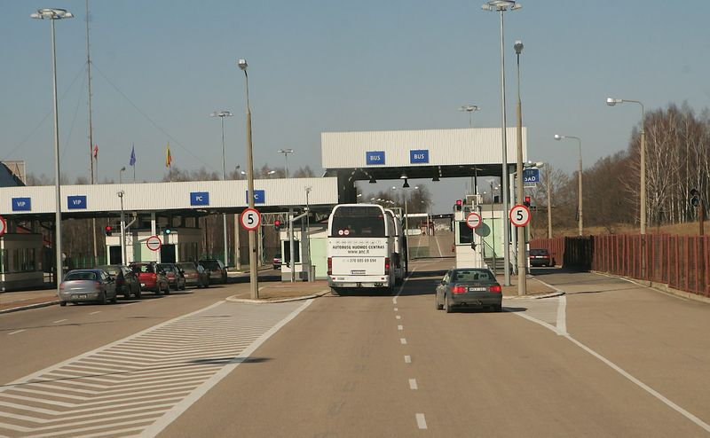 Lenkijos-Lietuvos pasienis. Lazdijų pasienio kontrolės punktas. Juditos Grigelytės (VŽ) nuotr.