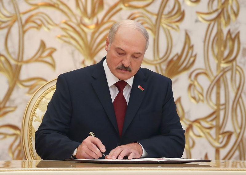 "Aliaksandras Lukašenka, Baltarusijos prezidentas. Belarusian Telegraph Agency / ""Scanpix"" nuotr."