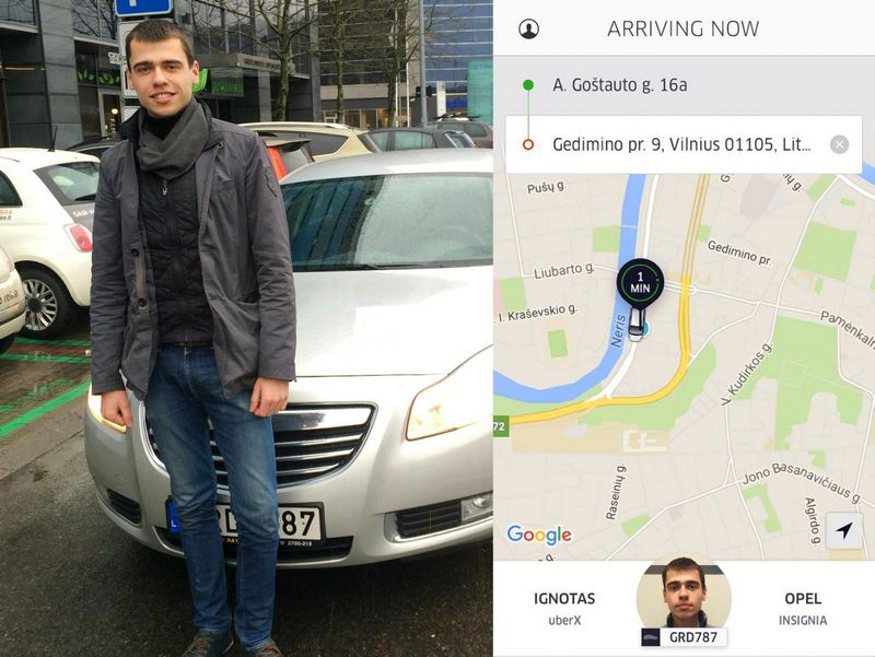 """Ignotas Malinauskas, vairuotojas su """"Uber"""" programėle. Dariaus Versecko (VŽ) nuotr."""