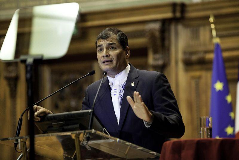 """Rafaelis Correa, Ekvadoro prezidentas. """"Wikimedia Commons""""."""