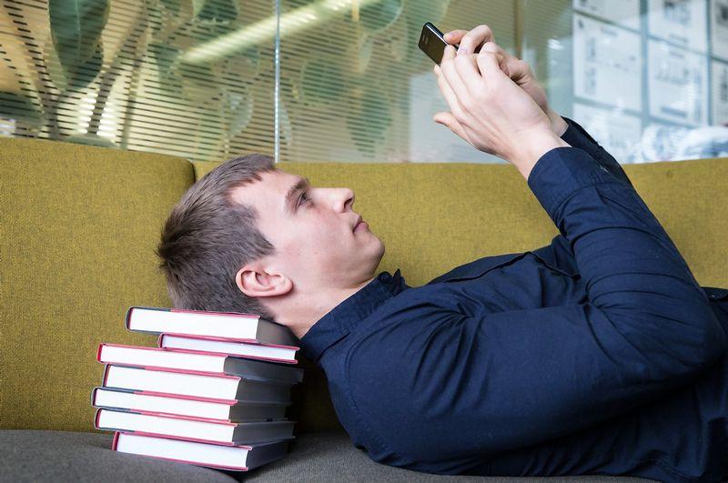 """Vilius Stanislovaitis, knygos apie IP telefoniją """"How to Start and Run VoIP Business"""" autorius, UAB """"Kolmisoft"""" pardavimų vadovas. Juditos Grigelytės (VŽ) nuotr."""