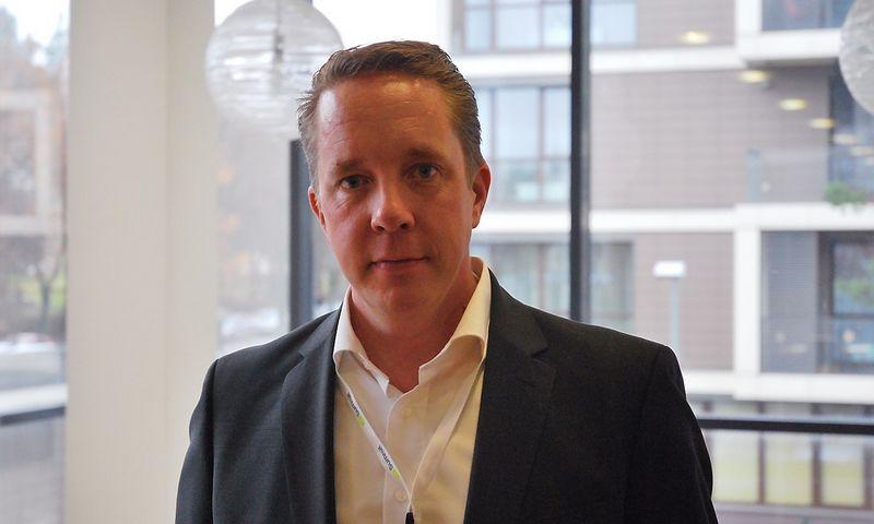 """Henris Engstromas, informacinių technologijų bendrovės """"Affecto"""" pramoninių operacijų vadovas. Dariaus Versecko (VŽ) nuotr."""