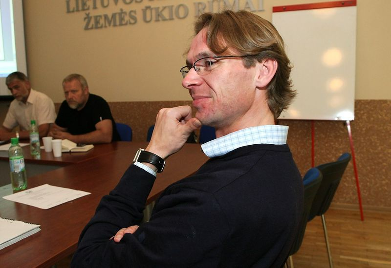"""Naglis Narauskas, """"Pienas LT"""" valdybos pirmininkas"""" """"ūkininkų organizacijos kreipėsi į Vyriausybę prašydamos projektą paremti ir prie jo prisidėti."""" Roberto Misukonio nuotr."""