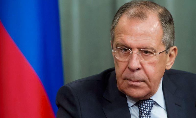 """Sergejus Lavrovas, Rusijos užsienio reikalų ministras. Iliya Pitalevo (""""Sputnik"""" / """"Scanpix"""") nuotr."""
