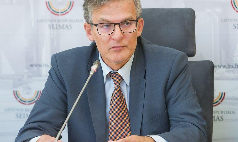 Julius Sabatauskas, Seimo Teisės ir teisėtvarkos komiteto (TTK) pirmininkas. Juditos Grigeęlytės (VŽ) nuotr.