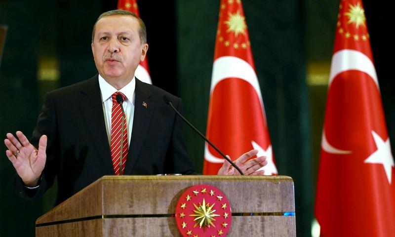 "Recepas Tayyipas Erdoganas. Kayhano Ozero (""Reuters"" / ""Scanpix"") nuotr."