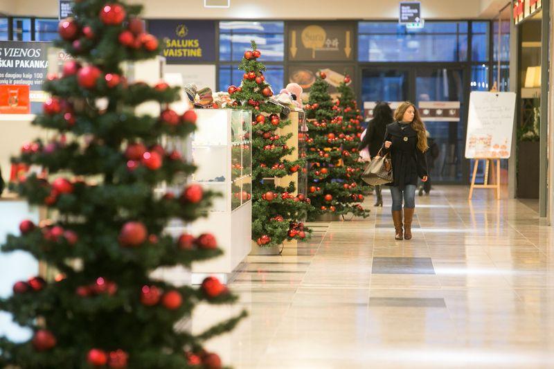 Planuodami šių metų Kalėdas mažmenininkai Lietuvoje dažniausiai mini galimą 4–5% metinį pardavimų augimą. Juditos grigelytės (VŽ) nuotr.
