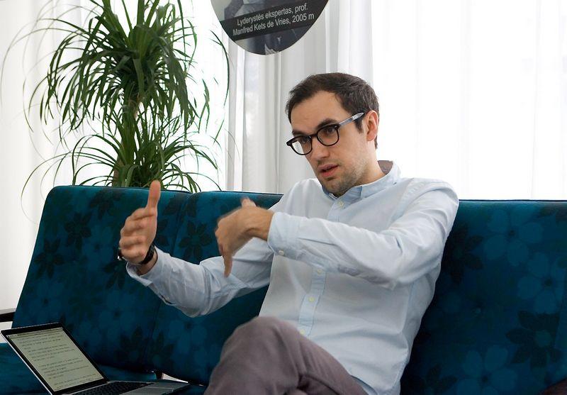 """Tomas Ramanauskas, reklamos agentūros """"New!"""" kūrybos vadovas. Juditos Grigelytės (VŽ) nuotr."""