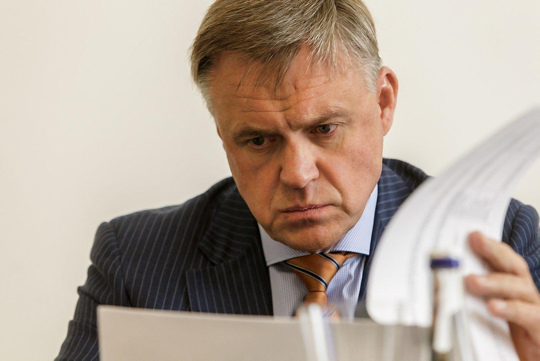 Robertas Dargis, Lietuvos pramoninink� konfederacijos prezidentas. Vladimiro Ivanovo (V�) nuotr.