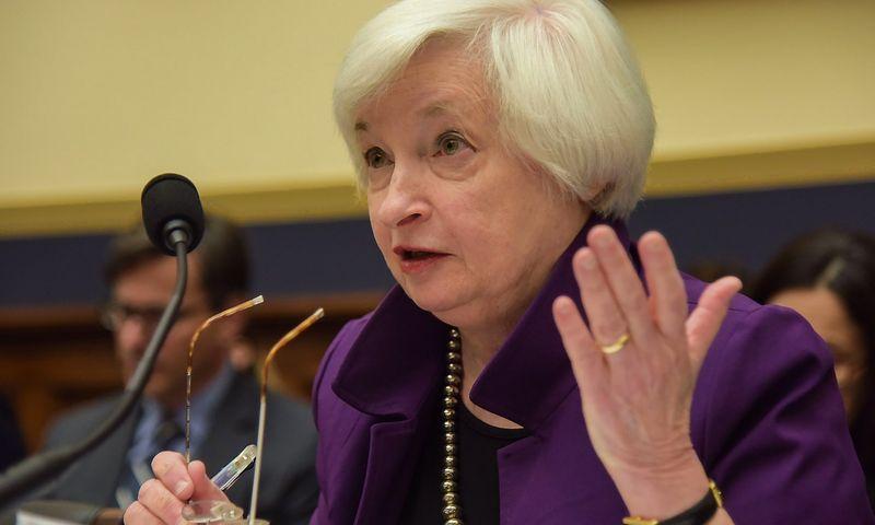 """Janet Yellen, JAC centrinio banko vadovė. Bao Dandano (SIPA/""""Scanpix"""") nuotr."""