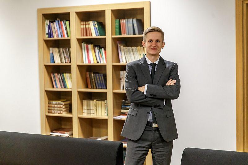 """Paulius Martinkus, """"Baltic Institute of Corporate Governance""""prezidentas: """"EBPO rekomendacija turėtų padrąsinti Premjerą ir aplinkos ministrą aktyviau siūlyti urėdijų apjungimo klausimus Seimui.""""  Vladimiro Ivanovo (VŽ) nuotr."""