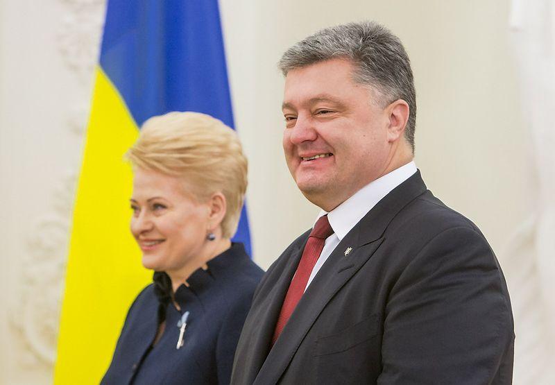 Dalia Grybauskaitė, Lietuvos prezidentė, ir Petro Porošenka, Ukrainos prezidentas. Juditos Grigelytės (VŽ) nuotr.
