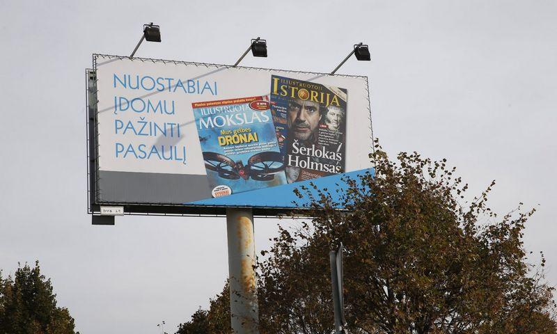 Reklaminis stendas J. Jasinskio gatvėje Vilniuje. Vladimiro Ivanovo (VŽ) nuotr.
