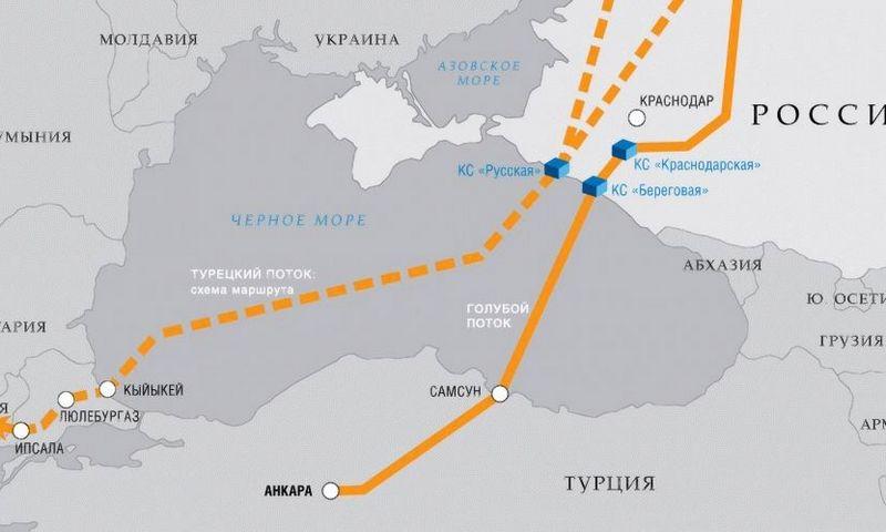 """Turkish Stream"" projektas. ""Gazprom"" nuotr."