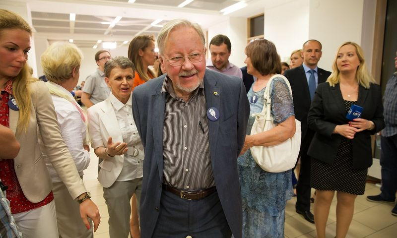 Vytautas Landsbergis, Aukščiausiosios Tarybos-Atkuriamojo Seimo Pirmininkas, Nepriklausomybės Akto signataras. Juditos Grigelytės (VŽ) nuotr.