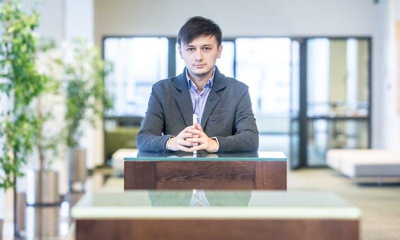 """Mantas Mockevičius, bitkoinų keitimo ir atsiskaitymo UAB """"Spectro Finance"""" komercijos direktorius bei vienas įkūrėjų. Juditos Grigelytės (VŽ) nuotr."""
