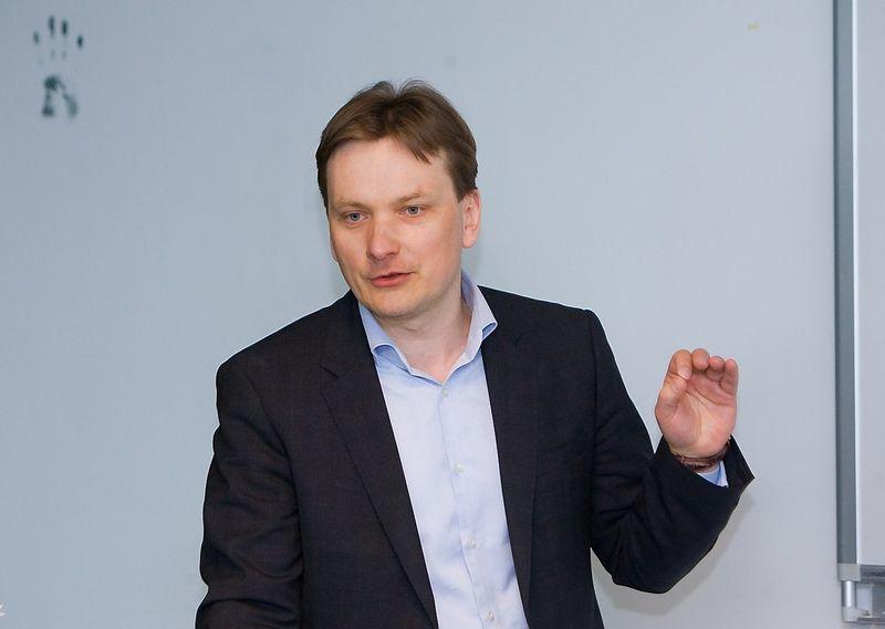 """""""Daiktų internetas – vienas tų sričių, kuri yra ateitis"""", – sako """"Samsung"""" atstovybės Lietuvoje vadovas Simonas Skupas. Juditos Grigelytės (VŽ) nuotr."""