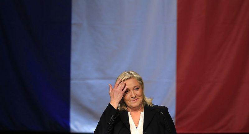 "Marine Le Pen. Pascalio Rossignolio (""Reuters"" / ""Scanpix"") nuotr."