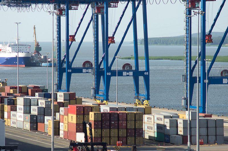 Algimanto Kalvaičio (VŽ) nuotr. Nerimą kelia tik beveik 17% sumenkęs konteinerių srautas.