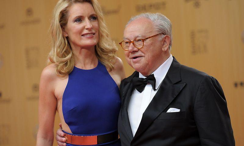 "Hubertas Burda, ""Hubert Burda Media"" savininkas, su savo žmona Maria Furtwaengler. Stefanie Loos (""Reuters"" / ""Scanpix"") nuotr."