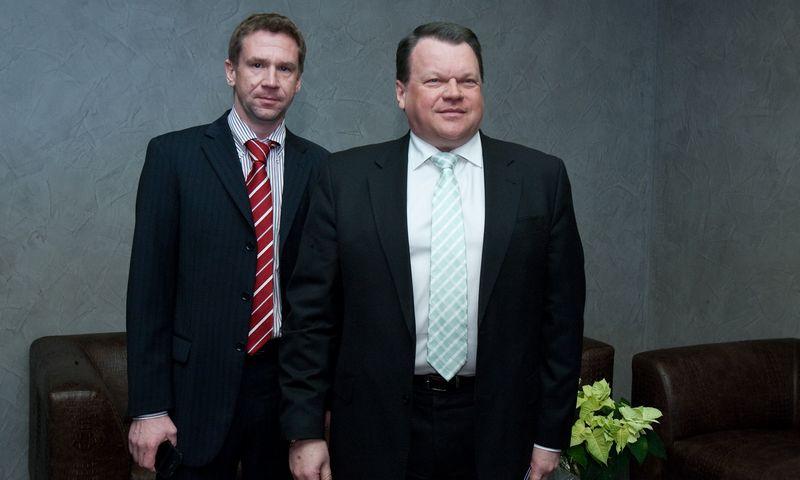"""Vladimiras Antonovas, buvusio AB bankas """"Snoras"""" stebėtojų tarybos pirmininkas, pagrindinis banko akcininkas ir Raimondas Baranauskas, prezidentas, valdybos pirmininkas bei bendrasavininkas. Herkaus Milaševičiaus (VŽ) nuotr."""