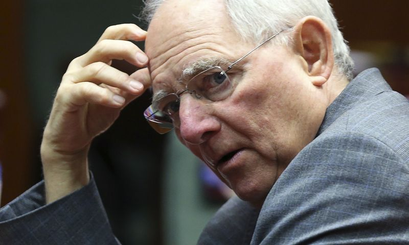"Vokietijos finansų ministras Wolfgangas Schaeuble. Francois Lenoiro (""Reuters"" / ""Scanpix"") nuotr."