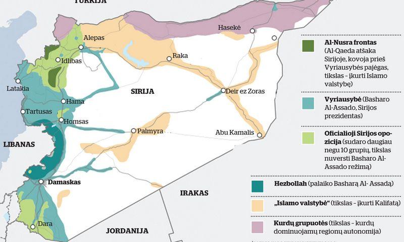 Dalis didžiules teritorijas valdančių ir su al Assado režimu kovojančių grupuočių, pavyzdžiui, kurdai, į derybas nepakviestos.