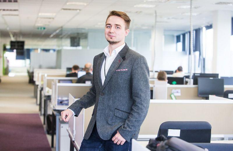 """Edvardas Pocius, IT paslaugų UAB """"CSC Baltic""""  komunikacijos ir rinkodaros jaunesnysis specialistas.  Juditos Grigelytės (VŽ) nuotr."""