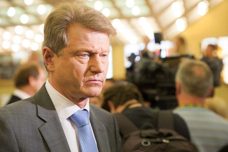 """Rolandas Paksas, partijos """"Tvarka ir teisingumas"""" pirmininkas, Europos Parlamento narys. Juditos Grigelytės (VŽ) nuotr."""