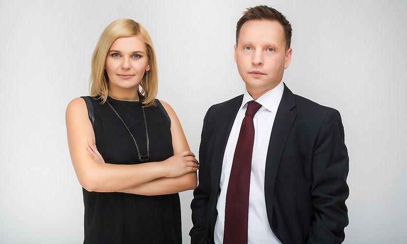 """Alvydė Palaimaitė, """"Beta Media"""" vadovė ir įkūrėja bei vienas investuotojų Raimundas Adomaitis. Bendrovės nuotr."""