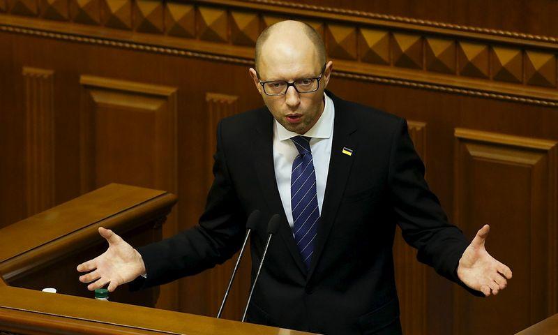 "Arsenijus Jaceniukas, Ukrainos premjeras. Valentyno Ogirenko (""Reuters"" / ""Scanpix"") nuotr."