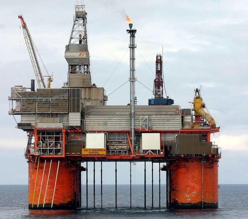 """Statoil"" naftos gavybos platforma Šiaurės jūroje. ""Statoil""\""Scanpix"" nuotr."