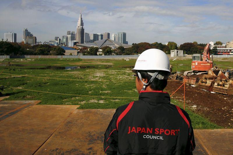 """Vieta, kurioje planuojama pastatyti pagrindinį Tokijo olimpiados stadioną. Thomaso Peterio (""""Reuters"""" / """"Scanpix"""") nuotr."""