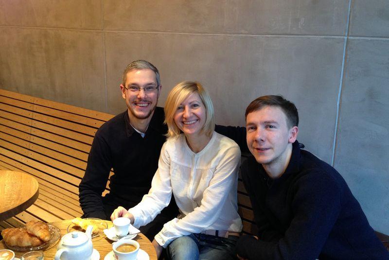 """UAB """"Onorė veikla"""", valdančios restoraną Palangoje """"Onoré"""", bendraturčiai (iš kairės) Ignas Grušnys, Ingryda Grušnienė ir Deivydas Praspaliauskas įsitikinę, kad kitokio restorano kultūra netruks prigyti ir pajūryje. Bendrovės nuotr."""