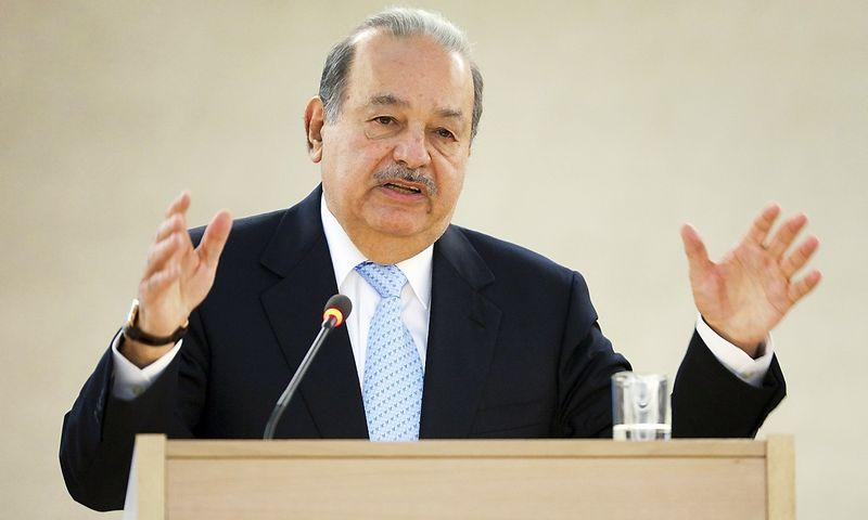 """Carlosas Slimas, 5 pagal valdomą turtą žmogus pasaulyje. Valentino Flauraudo (""""Reuters"""" / """"Scanpix"""") nuotr."""