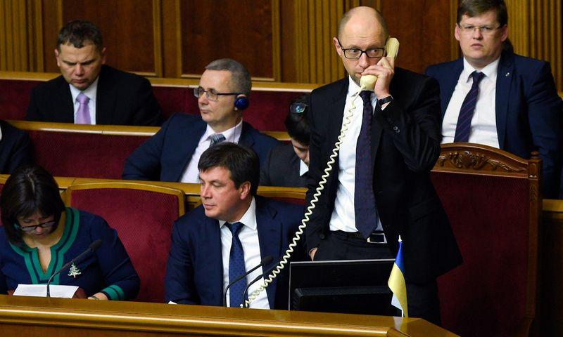 "Arsenijus Jaceniukas, Ukrainos premjeras. ""Stringer"" / ""Sputnik"" nuotr."