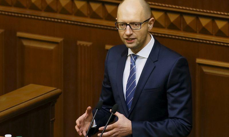 """Arsenijus Jaceniukas, Ukrainos ministras pirmininkas. Valentyno Ogirenko (""""Reuters"""" / """"Scanpix"""") nuotr."""