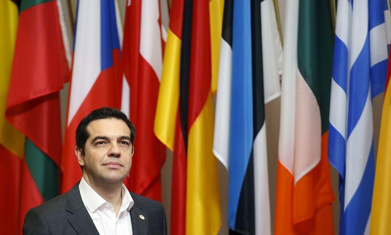 "Alexis Tsipras, Graikijos premjeras. ""Reuters"" / ""Scanpix"" nuotr."