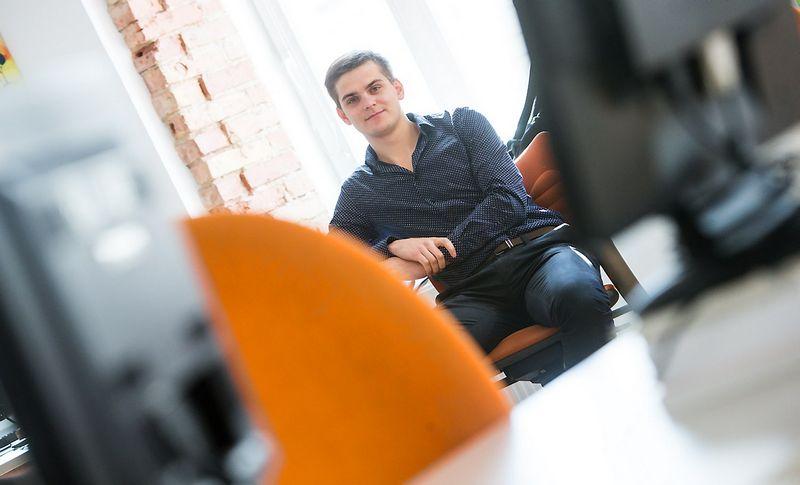 """Andrius Karužas, IT UAB """"Metasite Business Solutions"""" jaunesnysis Java programuotojas. Juditos Grigelytės (VŽ) nuotr."""