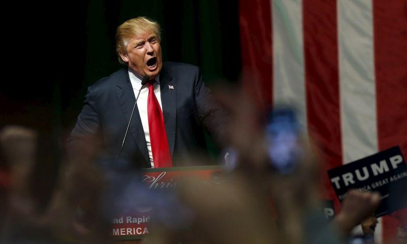 """Donaldas Trumpas. Rebeccos Cook (""""Reuters"""" / """"Scanpix"""") nuotr."""