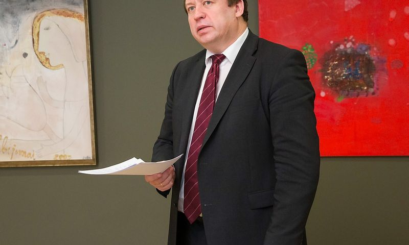 Raimundas Karoblis, užsienio reikalų viceministras, buvęs Lietuvos ambasadorius Europos Sąjungoje. Juditos Grigelytės (VŽ) nuotr.