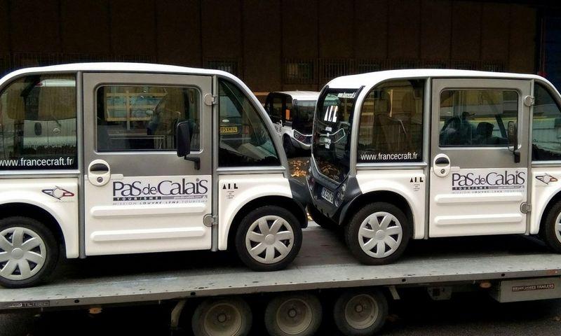 """Nedidukai """"France Craft"""" elektromobiliai pirkėjams atkeliauja kaip detalių rinkinys. Kompanijos nuotr."""