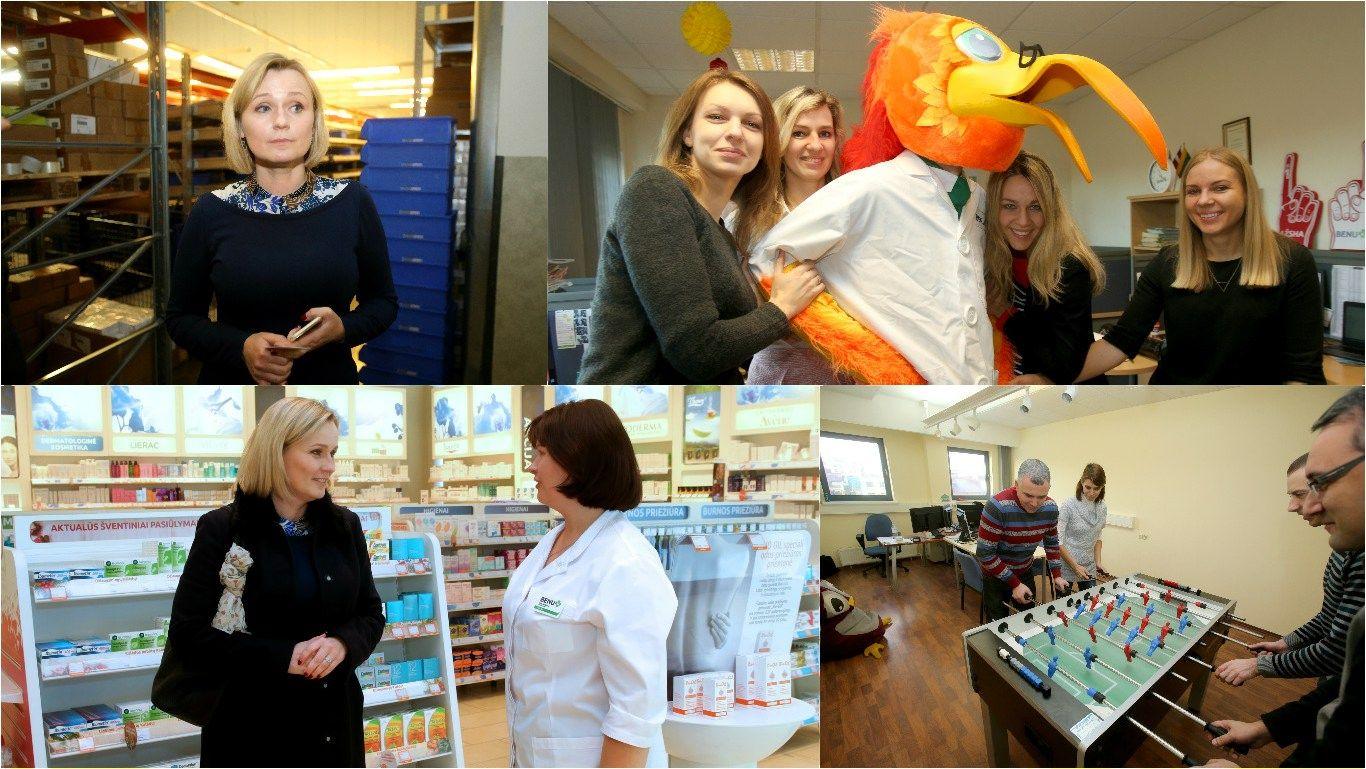 Diena su �Benu� vaistini� tinklo vadove: i� gro�io industrijos � � farmacij�
